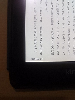 Kindle paperwhiteのページ数表記