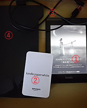 Kindle paperwhite(本体)と付属品