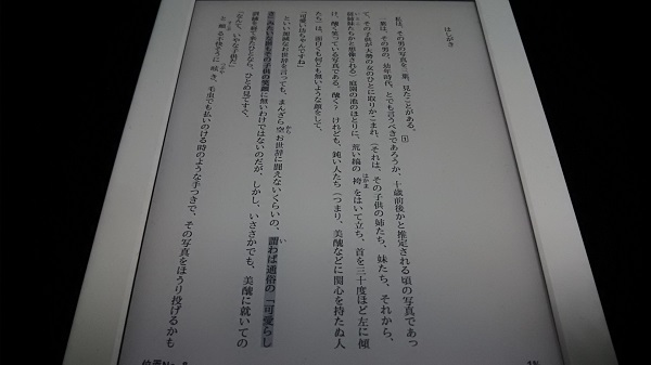 Kindleで電子書籍を開いている時は広告が表示されない
