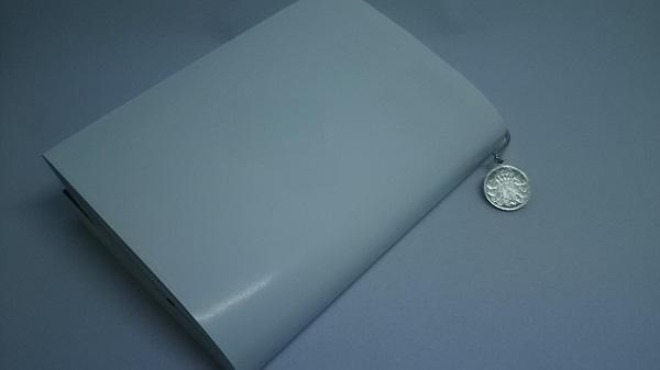 ナガオ ステンレスブックマーカー:本に挟んだ状態